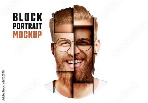 Block Portrait Mockup