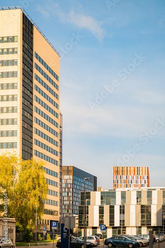 Fototapeta Nowe centrum Łodzi, remont