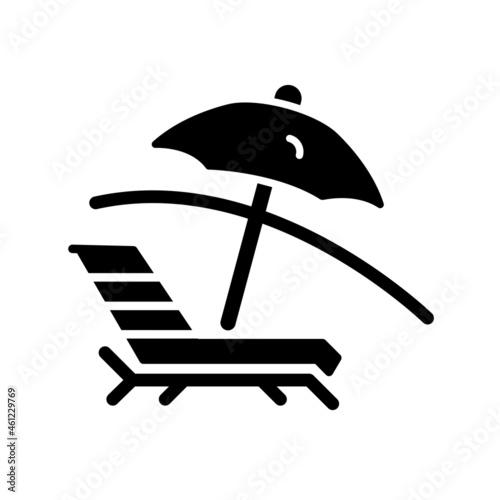 Deck Chair Glyph Vector Icon Design Fotobehang