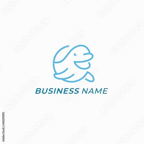 Canvastavla design logo creative circle whale beluga