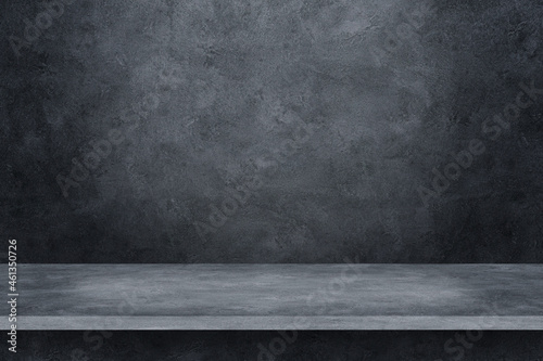 Foto cement shelf and floor on concrete background for design