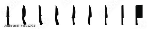 Fotografia knife icons set