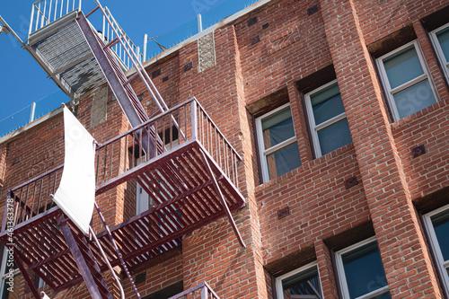 Fotografiet fire escape