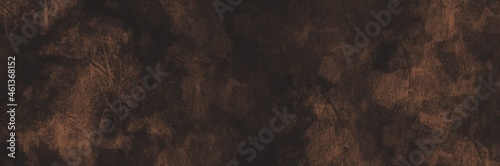 Photo Abstract painting art with bronze rough texture paint brush for presentation, website background, halloween poster, wall decoration, or t-shirt design