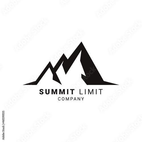 Fotografiet Mount Peak Hill Nature Landscape view logo design high Rocky Mountain
