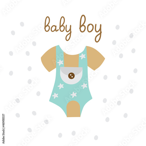 Canvas A postcard, invitations for a baby shower boy