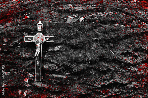 Fotografiet Krzyż z krwią.