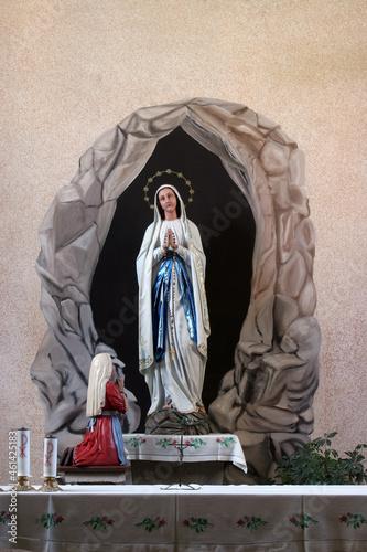 Obraz na plátně Our Lady of Lourdes, Church of the Saint Brice of Tours in Brckovljani, Croatia