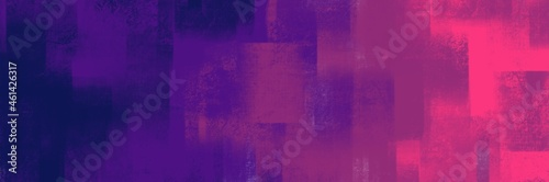 Canvas Abstract painting art with purple gradient paint brush for presentation, website background, halloween poster, wall decoration, or t-shirt design