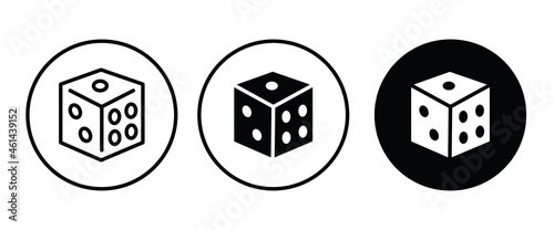 Fotografia Backgammon icon, Dice cube, casino game icon button, vector, sign, symbol, logo,