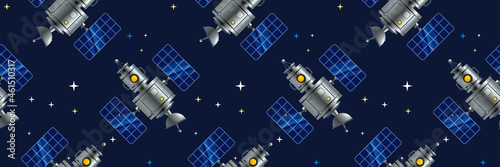 Billede på lærred Vector Space Technology Illustration