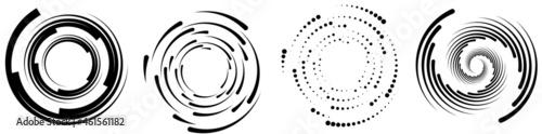 Canvas Print Spiral, swirl ,twirl circular, concentric element