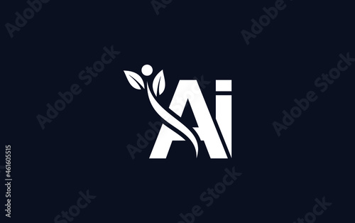 Nutrition and healthy logo design Fototapet