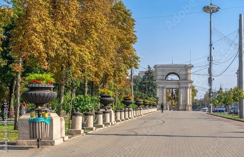 Fotografiet Stefan cel Mare Boulevard in Chisinau, Moldova