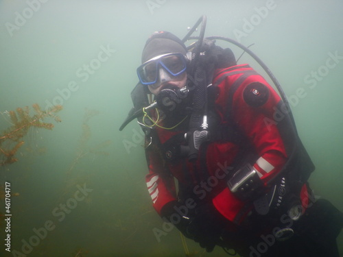 Obraz na plátně scuba diver in the underwater
