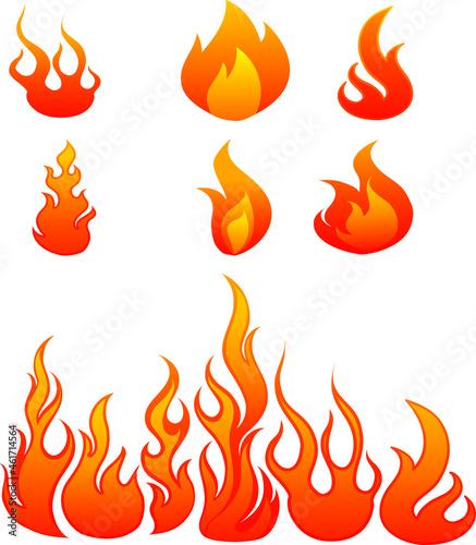 Fotografie, Obraz Cartoon campfire