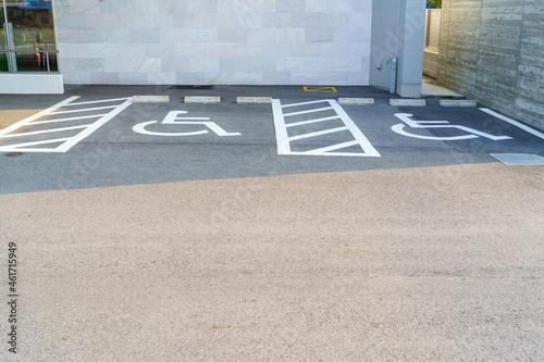 身体障害者優先駐車場 Fototapet