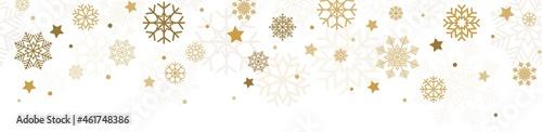 Photo seamless falling snow flake background
