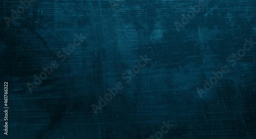 Fotografie, Obraz Scratches on dark blue cement for background