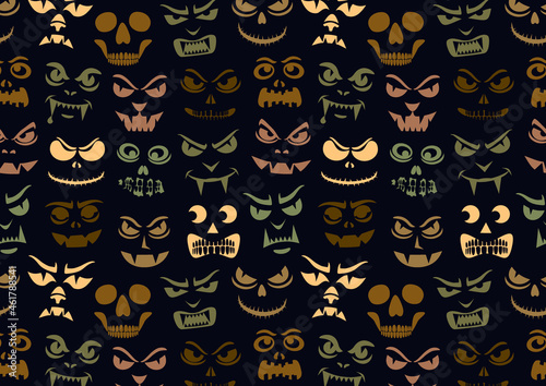 Canvas Print Funny monsters pattern