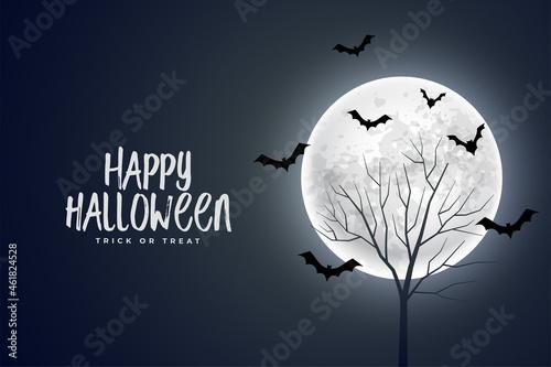 Canvastavla realistic happy halloween devil background