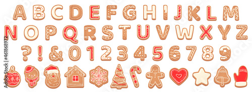 Foto Gingerbread alphabet