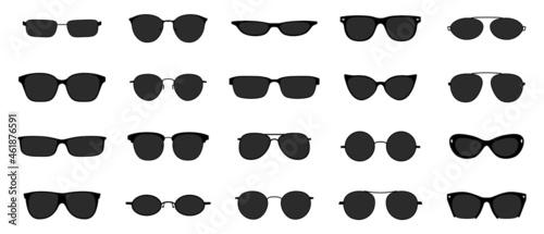 Fotografiet Sunglasses icon set