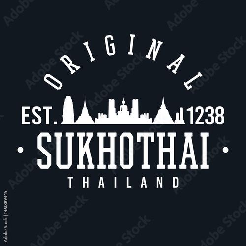 Fotografie, Obraz Sukhothai, Thailand Skyline Original