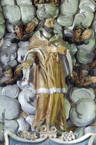 Fotografia Saint John of Nepomuk, statue on the altar of St