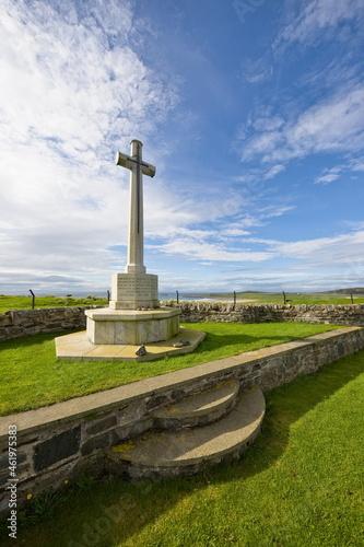 Fototapeta Cross of sacrifice at Kilchoman, Islay