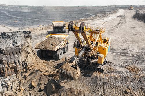 Fotografie, Obraz Panoramic aerial view of coal mine