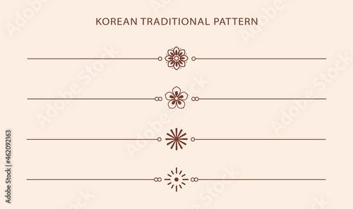 Obraz na plátně Korean traditional line pattern