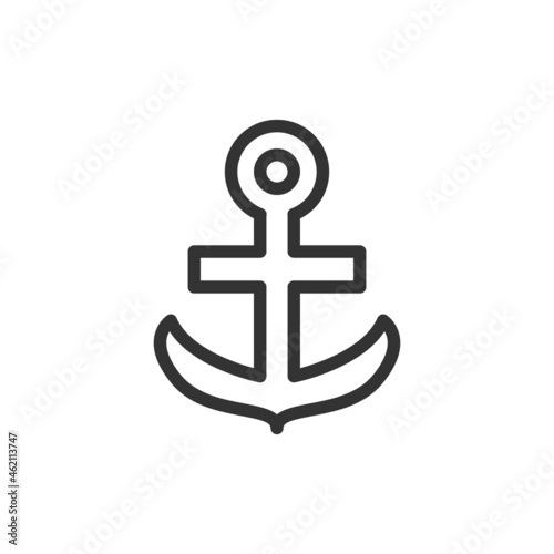 Canvas Simple anchor line icon.