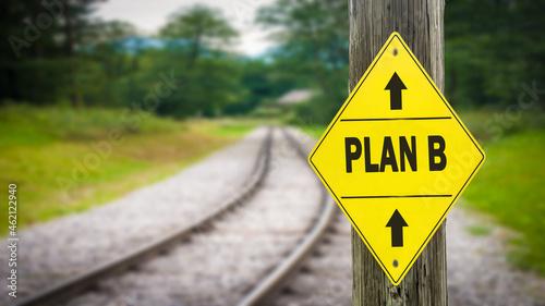 Fotografie, Obraz Street Sign to Plan B
