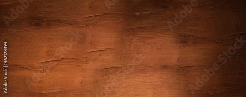 Foto Panorama of dark wooden boards, gloomy wood texture, dark background