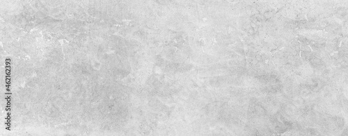 Canvastavla Panorama of White grey concrete texture, Rough cement stone wall, Surface of old