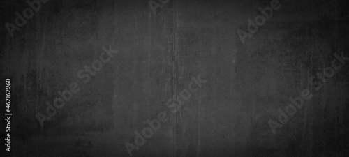 Black anthracite stone concrete texture background panorama banner