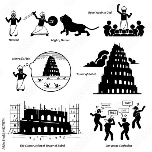 Fotografija Nimrod and Tower of Babel bible biblical story