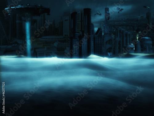 Fototapeta future city in the night