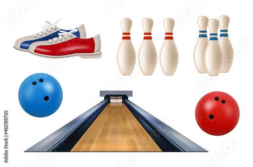 Fotografija Bowling realistic
