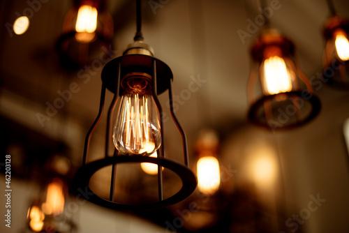 Vintage ceiling lamps Fotobehang