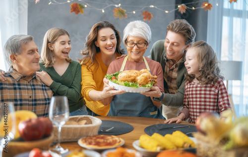 Fototapeta Thanksgiving Day, Autumn feast