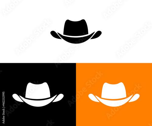 Foto Cowboy hat logo design - silhouette simple