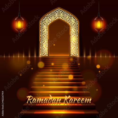 Fototapeta Cover of Ramadan Kareem. Vector illustration