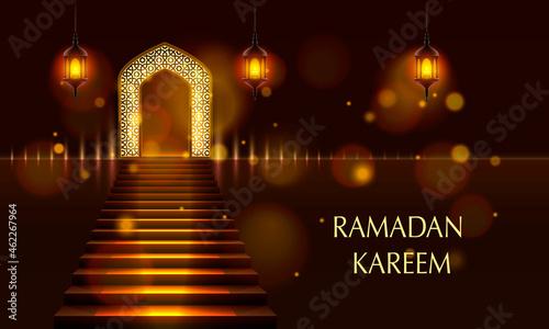 Fotografie, Obraz Cover of Ramadan Kareem. Vector illustration