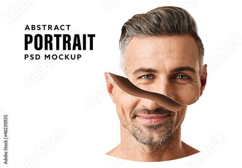 Split Portrait Mockup