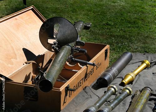 Obraz na plátně German second world war copy of American bazooka anti tank rocket launcher