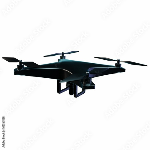 Wallpaper Mural 3D Drone Illustration