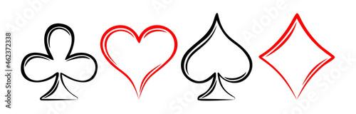 Fotografía The set of Symbols a playing cards.