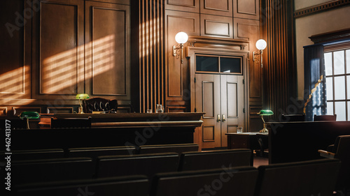 Valokuva Empty American Style Courtroom